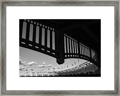 Yankee Stadium Facade - B And W Framed Print