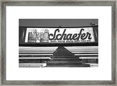 Yankee Stadium-final Day In The Bleachers Framed Print by Ross Lewis