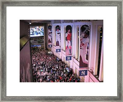 Yankee Stadium Great Hall 2009 World Series Color  Framed Print