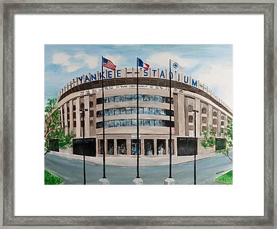 Yankee Stadium Framed Print by Paul Cubeta