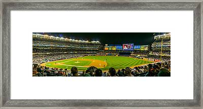 Yankee Stadium Framed Print by TL  Mair