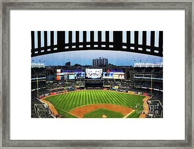 Yankee Stadium With Facade Framed Print