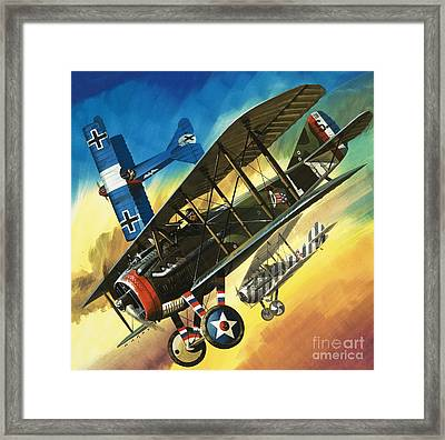 Yankee Super Ace Edward Rickenbacker Framed Print by Wilf Hardy
