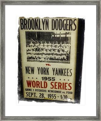 Yankees And Dodgers World Series 1955 Framed Print by Image Takers Photography LLC - Laura Morgan
