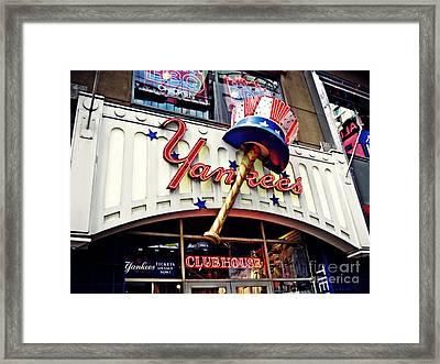 Yankees Club House Store Framed Print by Sarah Loft