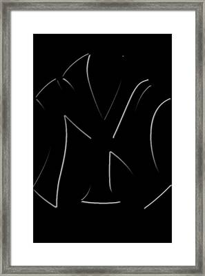 Yankees Simply Faded By Gbs Framed Print