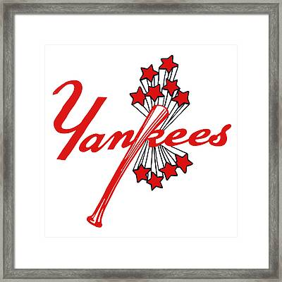 Yankees Vintage Framed Print by Gina Dsgn