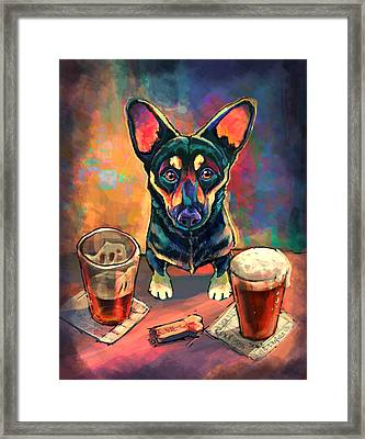 Yappy Hour Framed Print by Sean ODaniels