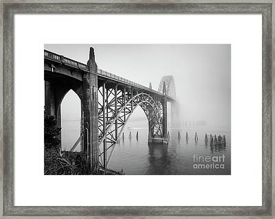 Yaquina Bay Bridge Framed Print by Inge Johnsson