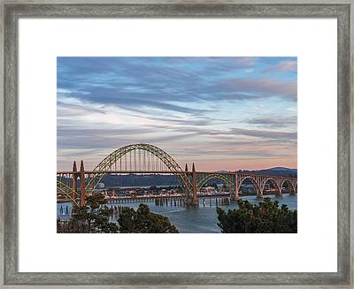 Yaquina Bay Bridge Framed Print