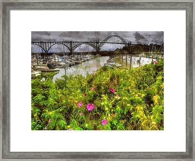 Yaquina Bay Roses Framed Print