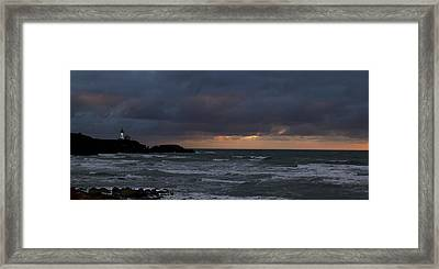 Yaquina Head From Agate Beach Framed Print