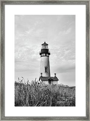 Yaquina Head Light - Bw Framed Print