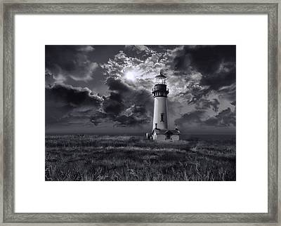 Yaquina Head Lighthouse 3 Framed Print