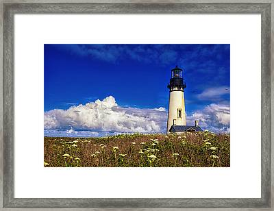 Yaquina Head Lighthouse Framed Print by Andrew Soundarajan
