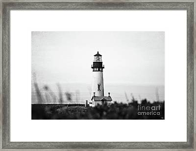 Yaquina Head Lighthouse - Bw Pov 2 Framed Print