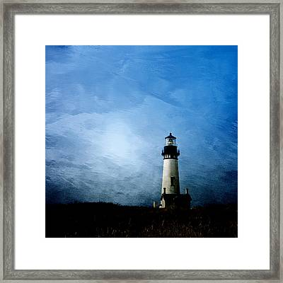 Yaquina Head Lighthouse Framed Print by Carol Leigh