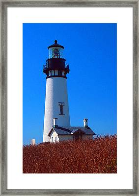 Yaquina Head Lighthouse Framed Print by Margaret Hood