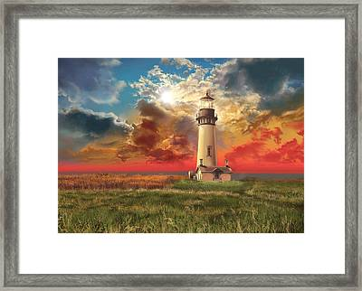 Yaquina Head Lighthouse Framed Print by Bekim Art