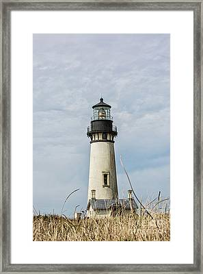 Yaquina Head Lighthouse Oregon Coast Framed Print