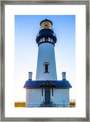 Yaquina Head Lighthouse Usa Framed Print by Garry Gay