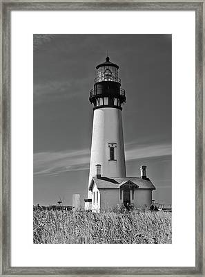 Yaquina In Mono Framed Print