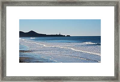 Yaquina Lighthouse And The Pacific Framed Print