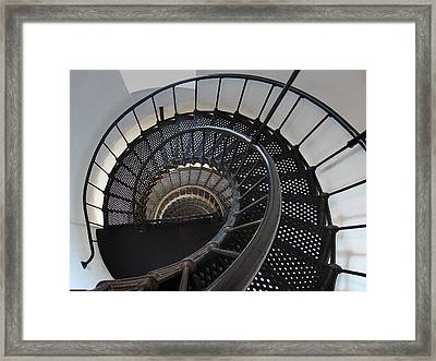 Yaquina Lighthouse Stairway Nautilus - Oregon State Coast Framed Print by Daniel Hagerman