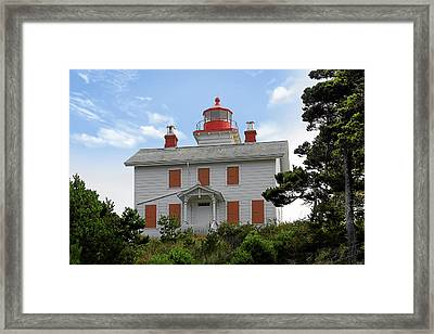 Yaquina Lighthouses - Yaquina Bay Lighthouse Oregon Framed Print