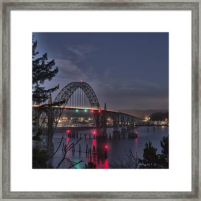 Yaquina Night Crossing Framed Print