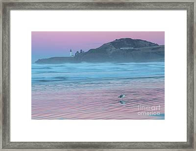 Yaquina Twilight Reflections Framed Print