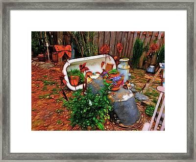 Yard Art You'all Framed Print