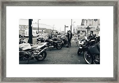 Yarmouth Bikers Framed Print