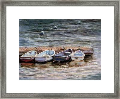 Yarmouth Dory's Framed Print