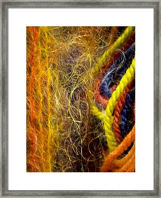 Yarn And Fiber Abstract Framed Print by Jean Noren