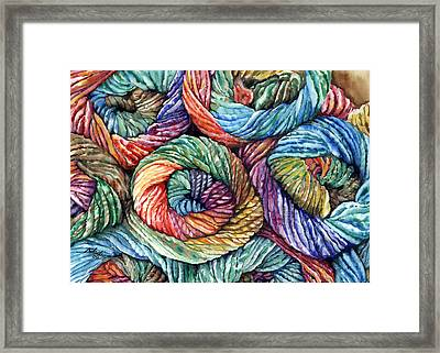 Yarn Framed Print by Nadi Spencer