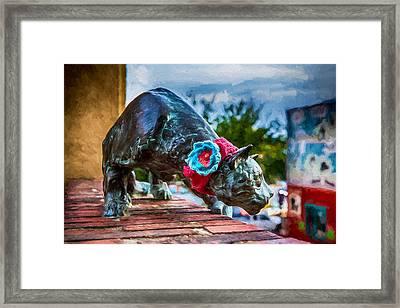 Yarn Of The Asheville Cat Framed Print by John Haldane