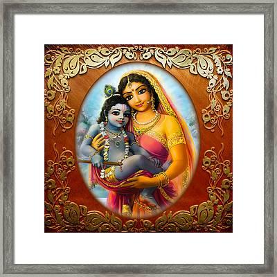 Yashoda And  Krishna 3 Framed Print