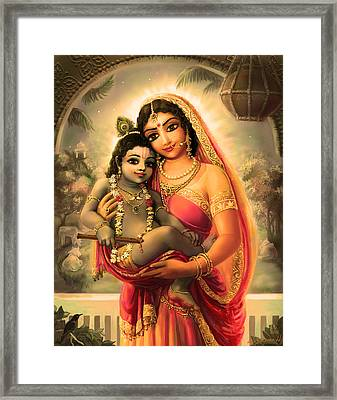 Yashoda And  Krishna 4 Framed Print