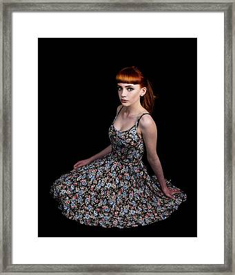 Yasmin Skirt Left Framed Print