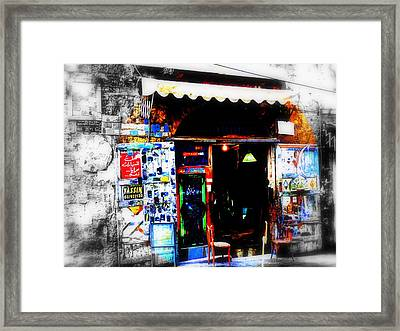 Yassin Glass Maker In Beirut Framed Print by Funkpix Photo Hunter
