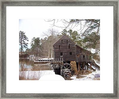 Yates Mill In Winter Framed Print