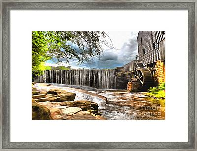 Yates Mill Raleigh Nc Framed Print by Mylinda Revell