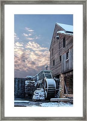Yates Mill. Winter Sunset Framed Print