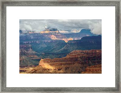 Framed Print featuring the photograph Yavapai Point by Beverly Parks