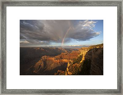 Yavapai Point Rainbow I Framed Print