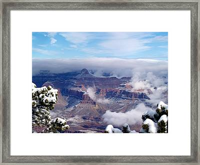 Yavapai Point Winter Framed Print by Carrie Putz
