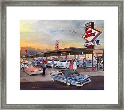 Yaw's Top Notch Drive In Framed Print by Mike Hill