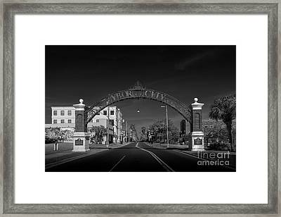 Ybor City Entry Framed Print by Marvin Spates