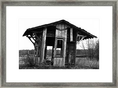 Ye Ol' Train Station Framed Print
